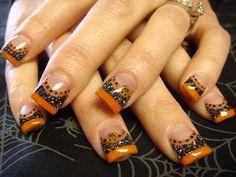 Halloween Nail Designs, Halloween Nail Art, Halloween Coffin, Halloween Stuff, Halloween Makeup, Love Nails, My Nails, October Nails, Finger Nail Art