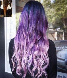 Galaxy Ombre! Hair by: ☔️ @jeffreyrobert_ ☔️  #mermaidians