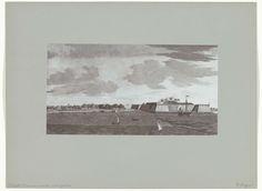 Hübner & Van Santen Roeloffzen | Het Fort Manaar van de rivier gezien door C. Steiger, Hübner & Van Santen Roeloffzen, 1890 - 1910 |