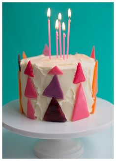 Triangle Candy Cake Topper from Candy Aisle Crafts and an interview on David Stark Notebook.
