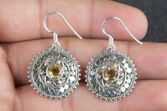 Check out our earrings selection for the very best in unique or custom, handmade pieces from our shops. Citrine Earrings, Citrine Gemstone, Crystal Earrings, Sterling Silver Earrings, Sterling Sliver, Fancy Earrings, Girls Earrings, Etsy Earrings, Christmas Gifts For Women