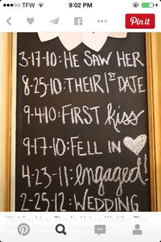 Want this at my wedding 7-7-14 saw first 7-11-14 first kiss first day 10-10-14