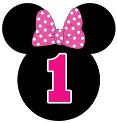 Number one ♥ Minnie Mouse Cupcakes Mickey, Minnie Mouse Cupcake Toppers, Minnie Mouse Birthday Decorations, Minnie Mouse Theme Party, Minnie Mouse First Birthday, Mimi Y Mickey, Mickey E Minnie Mouse, Theme Mickey, Mickey Mouse Silhouette