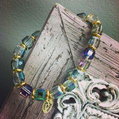 Sparkly cube bracelet by jewelsdejuliet on Instagram and Facebook