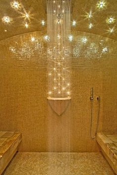 Oh to have my very own steam room...bliss.