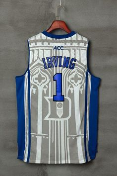 0bb21afcac0  1 kyrie irving jersey Duke Blue Devils Throwback Jers Retro Basketball  Jersey New Material Top quality embroidery jersey