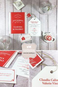 "Partecipazione nozze ""Tea Time"" - www.dab-wedding.eu #Majestic #Favini"