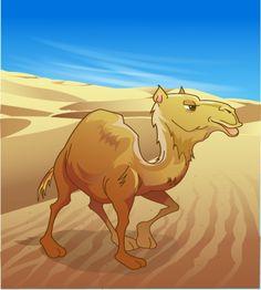 تصميم جمل عربي في الصحراء ملف مفتوح