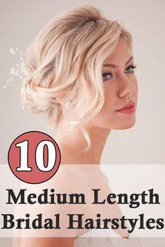 10 Medium Length Bridal Hairstyles