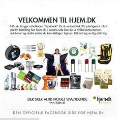 Hjem.dk's velkomst side på Facebook. Lavet med Newsperience Facebook Apps