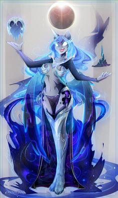 Luna to Nightmare Moon [commission] by Koveliana
