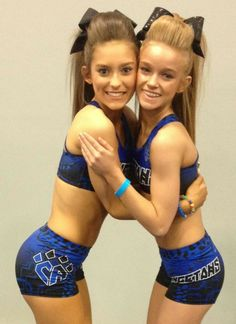 CHEER Athletics Cheetahs cheerleaders posting, embrace, hair, bows, uniforms, competitive cheerleading #KyFun m.18.56 moved from @Kythoni main Cheerleading board