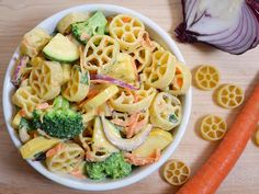 Creamy Garden Vegetable Pasta Salad
