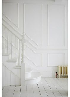Thicker molding but same concept for going up the stairs and hallway!!