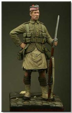 Private of the Gordon Highlanders, 1914. 54mm from Tommy's War. Now in stock! $18