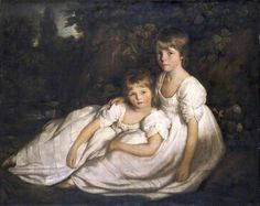 """The Sisters"", early 19th C., by an unknown Welsh artist."