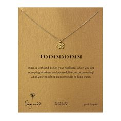 ommmmmmm, om charm necklace, gold dipped - Dogeared