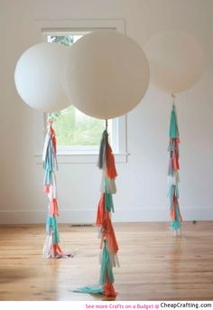 #HowTo Make Tassel Balloons for your next party #diy #cheap #decor