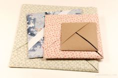 Origami Paper Storage Pocket Instructions - Paper Kawaii