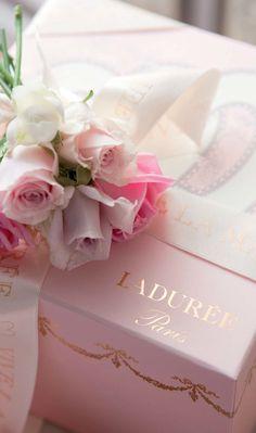 """Ladurée, Paris. """"Le Coffret Cadeau Mariage et son ruban Vive la Mariée"""""""