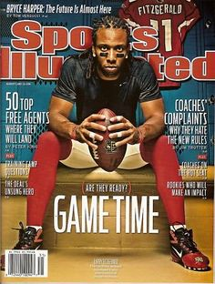 Sports Illustrated, Larry Fitzgerald,  new rules in FOOTBALL, August 2011~NEW