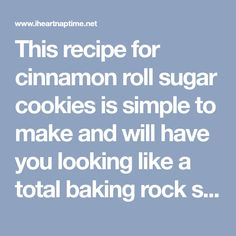 Soft Cinnamon Roll Sugar Cookies - I Heart Naptime This recipe for cinnamon roll sugar cookies is simple to make and will have you looking like a total baking rock star. They are seriously to die for! Rolled Sugar Cookie Recipe, Cinnamon Sugar Cookies, Easy Cookie Recipes, Sugar Cookies Recipe, Sweet Recipes, Baking Cookies, Cream Cheese Glaze, Soften Cream Cheese, Cinnamon Recipes