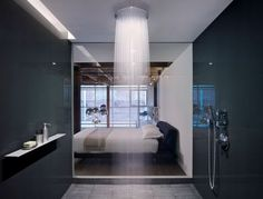 Edmonds + Lee Architects have designed the gorgeous oriental warehouse loft conversion. The project is located in San Francisco's South Beach neighborhoo Contemporary Shower, Modern Shower, Contemporary Bathrooms, Modern Contemporary, Dream Bathrooms, Beautiful Bathrooms, Luxury Bathrooms, Chic Bathrooms, Deco Design
