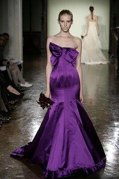 Purple Wedding Dress with a Bow