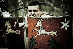 Roman Legionaire, preparing to meet the enemy.