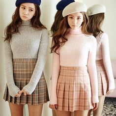 2017 New Spring high waist ball pleated Plaid a-line sailor skirts Harajuku Mori girls skirt Plus Size Japanese school uniform