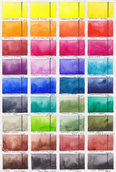 Jane Blundell: Blockx Watercolours full range