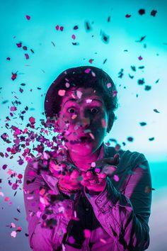 14 ideas originales para hacer fotos en casa: geles de colores