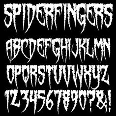 Spiderfingers Font....Some of my FAVORITE fonts are SINISTER! (and free)