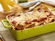Beef and Cheese Manicotti recipe from Giada De Laurentiis via Food Network