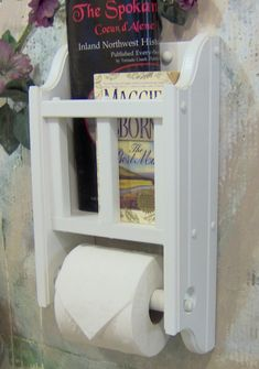 White Space Saver One Roll Book And Literature Holder