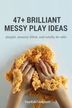 Get inspired with incredible messy play for your child or toddler that's actually easy. 47 messy play ideas with brilliant tips to keep clean up simple!