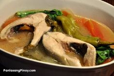 Sinigang na Bangus or Sinigang na isda is a traditional Filipino Food.The main ingredient of this soup dish is milkfish (this is locally known as Bangus) -- although you can use any type of fish that you desire. Compared to ordinary fish sinigan