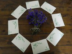 Handmade vintagestyle wedding place cards for tables by lizzles, $1.75