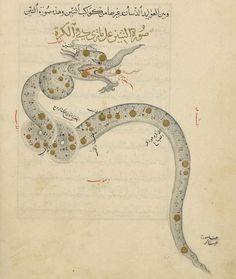 Constellation du dragon, Manuscrit médiéval arabe, 1430 (BNF)