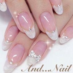 french nails acrylic Tips Classy Nail Designs, Diy Nail Designs, Beautiful Nail Designs, French Nail Art, French Tip Nails, Glitter French Nails, Bride Nails, Wedding Nails, Elegant Nails