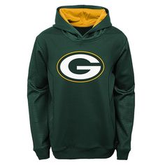 Boys 8-20 Green Bay Packers Performance Hoodie, Boy's, Size: M(10-12), Green Oth