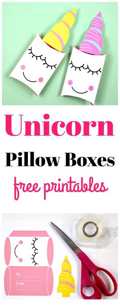 Unicorn Pillow Box printables, free printable unicorn birthday party favors, Unicorn valentine printable #unicorn #unicornpillowbox #unicornpartyfavor #unicornbirthday #unicorngiftbox #unicornprintable #freeprintable #kidsbirthday #birthdaypartyideas #Unicornparty #unicornpartyideas #unicornvalentine #unicornvalentines
