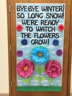 bulletin flowers spring winter board bye Spring Bulletin Board Bye Bye Winter FlowersYou can find Winter bulletin boards and more on our website Valentines Day Bulletin Board, Thanksgiving Bulletin Boards, College Bulletin Boards, Kindergarten Bulletin Boards, Christmas Bulletin Boards, Birthday Bulletin Boards, Reading Bulletin Boards, Spring Bulletin Boards, March Bulletin Board Ideas