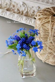 ♥ Forget Me Not Cottage ♥ Little Flowers, My Flower, Fresh Flowers, Purple Flowers, Spring Flowers, Flower Power, Beautiful Flowers, Floral Centerpieces, Floral Arrangements
