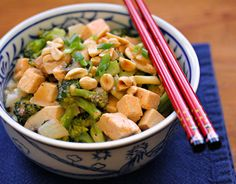 Thai red curry tofu and broccoli, on The Perfect Pantry.  (Yum!)