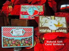 Gift card holders made by Donna using the Christmas Dreams Kit and the Gift Card Holder cutting files.