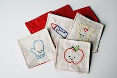 Educational Game Embroidery Pattern and Sewing Instructions