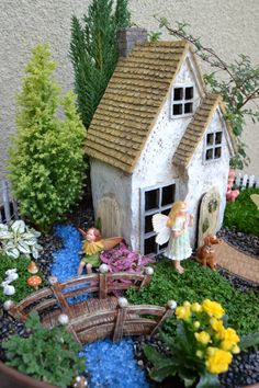 Large Fairy Garden Ideas find this pin and more on fairy gardens Fairy Garden Idea When Choosing A Large Fairy House To Make Your Garden Make