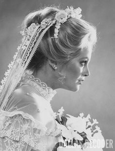 "In this 1981 photograph, Charlene Tilton is seen in the bridal gown she wears in ""End of the Road, Part 2,"" a fourth-season ""Dallas"" episode. Relive more memories at DallasDecoder.com."