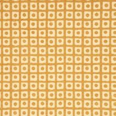 G P & J Baker SPOT CHECK GOLD Fabric